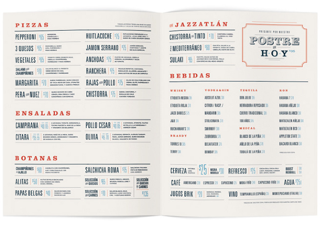 spanish restaurant menu project