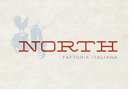 North Italia Logo north restaurant branding - grits + grids