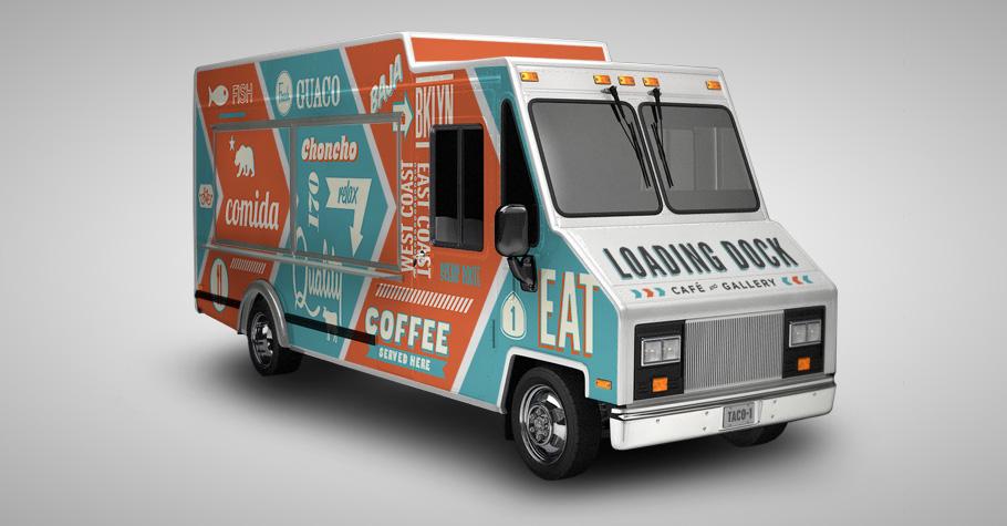 The loading dock restaurant branding grits grids for Design your food truck