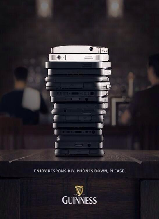 Guinness anti-tech advertisement
