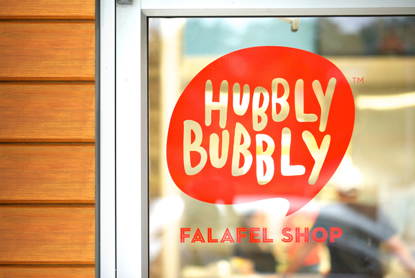 Hubbly Bubbly falafel fast food restaurant branding