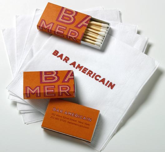 Bar Americain branding