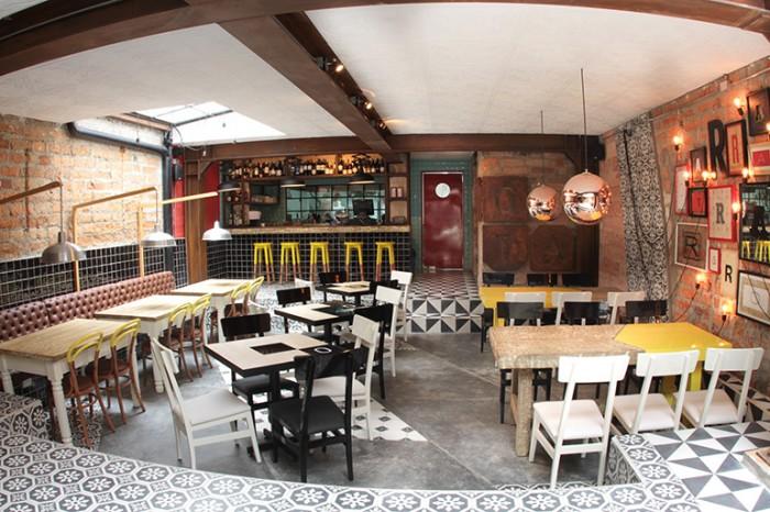 Rota restaurant interior design branding grits grids