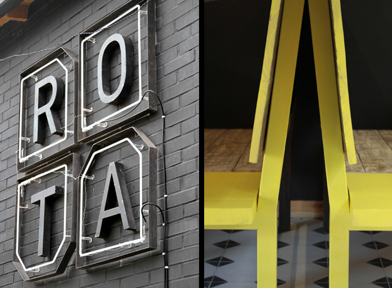 Rota restaurant interior design and branding