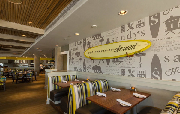 Sandys Beach Grill branding by Wall to Wall