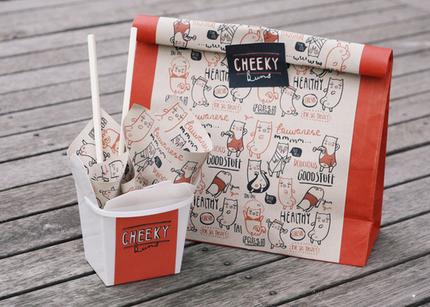 Cheeky Buns restaurant branding