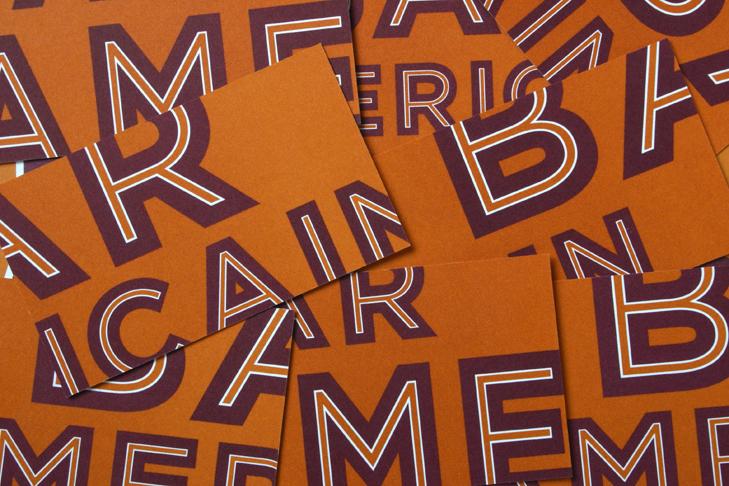 Bar Americain restaurant branding