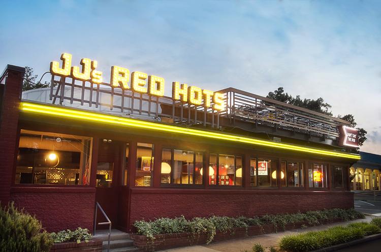 JJs Red Hots restaurant branding