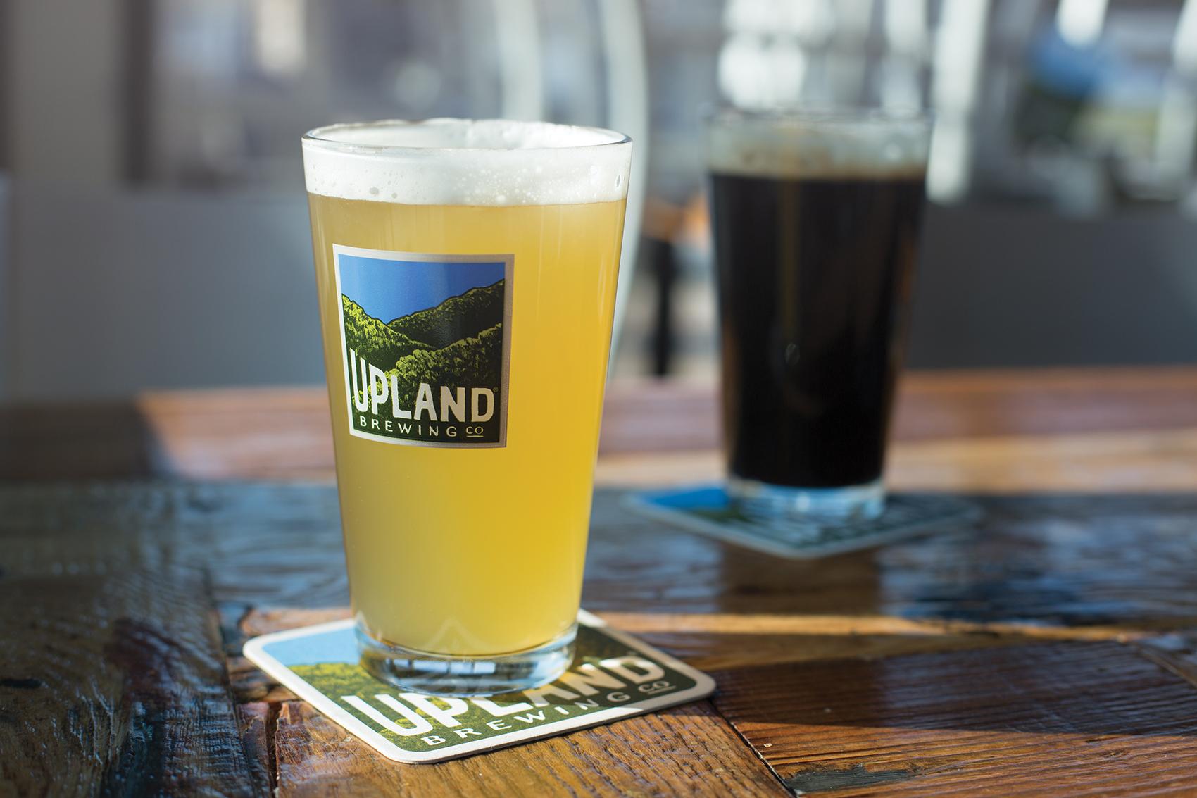 Upland brewing company rebranding branding beer
