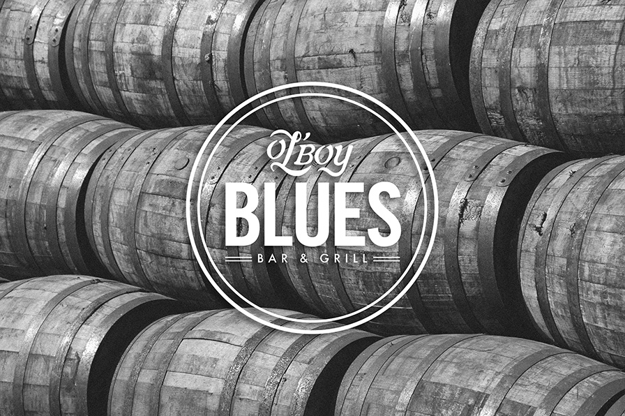 Ol Boy Blues bar and grille branding