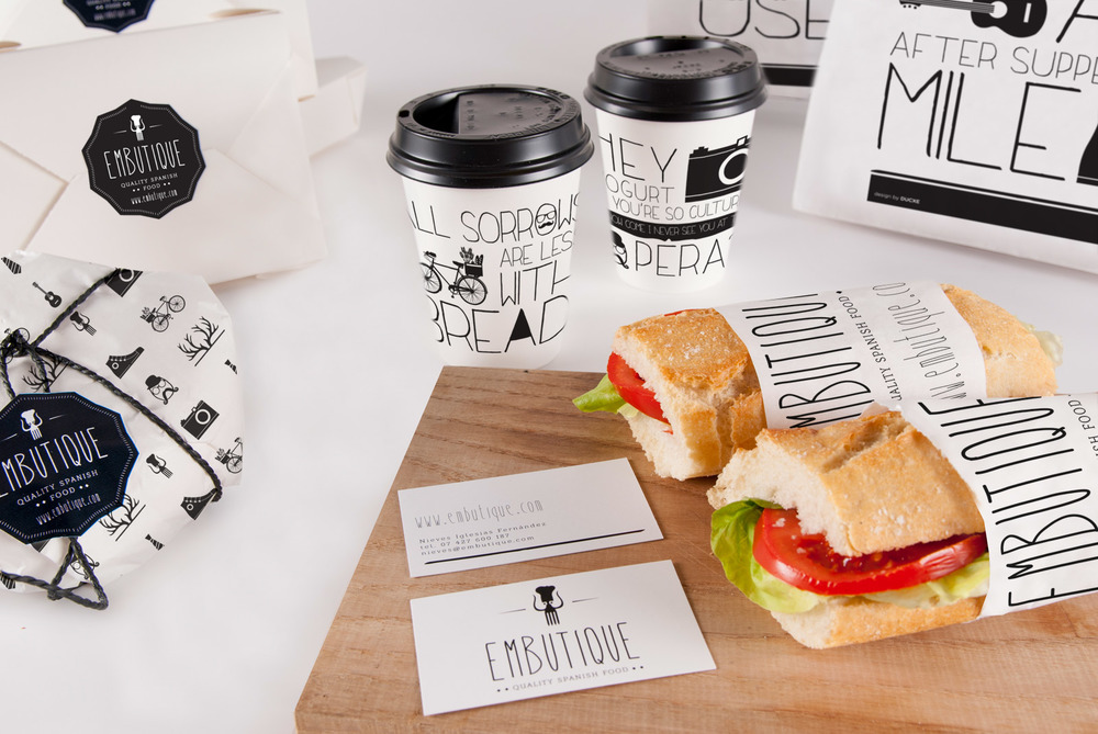 Embutique restaurant package design and branding
