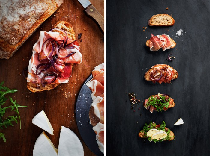 Brie Sandwich: Editorial recipe and photography for President Cheese: Art of Cheese campaign.