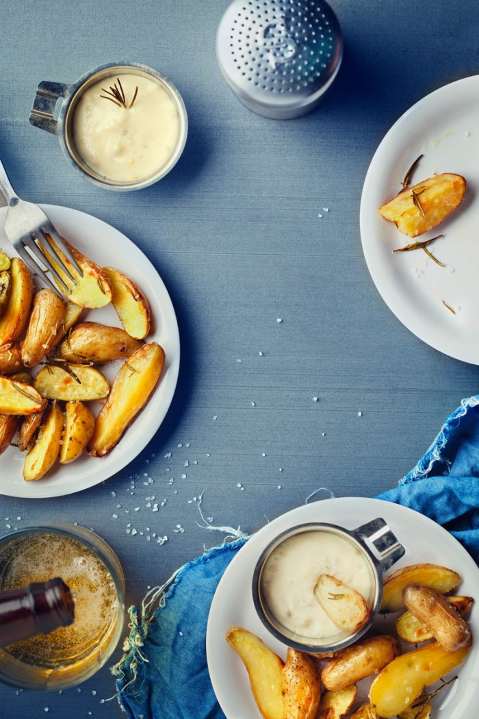 Fingerling Potatoes: Editorial recipe and photography for the food column of popular blog DesignLoveFest.
