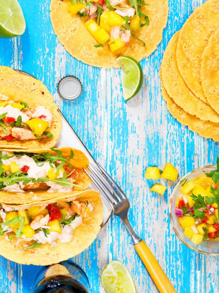 Fish Tacos: Editorial recipe and photography for the food column of popular blog DesignLoveFest.