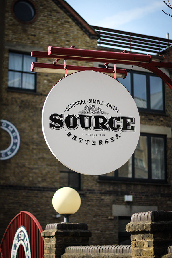 Source restaurant branding by Ginger Monkey