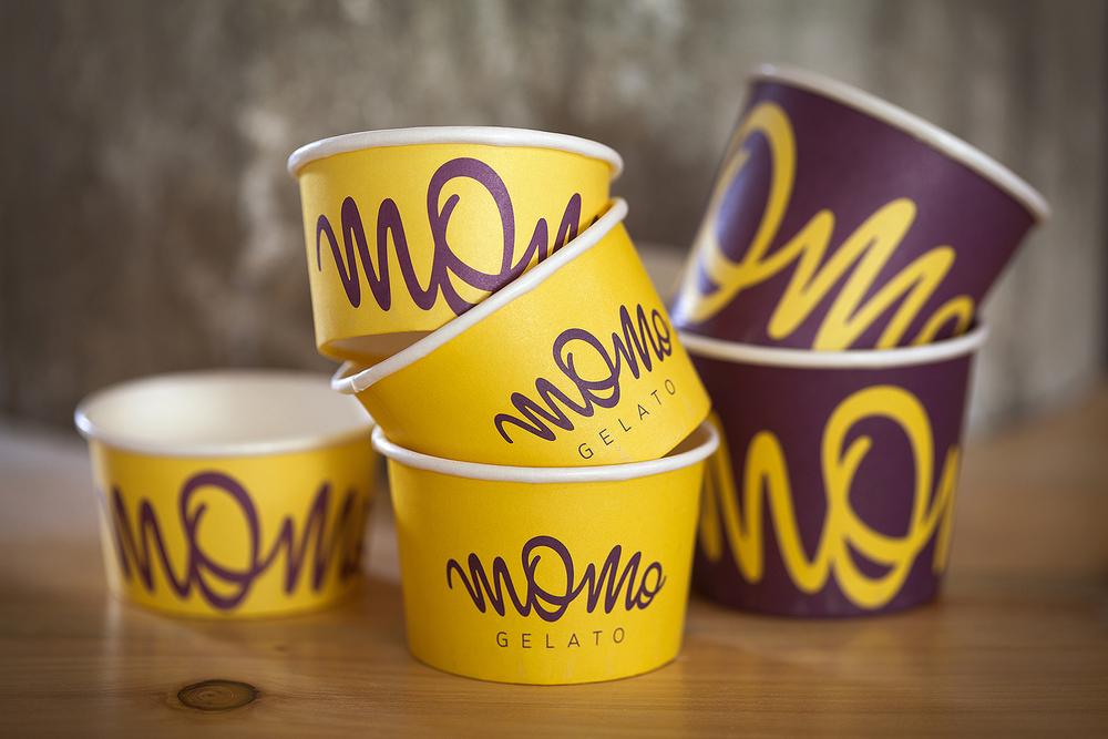 Momo Gelato restaurant branding by M Quatro Design