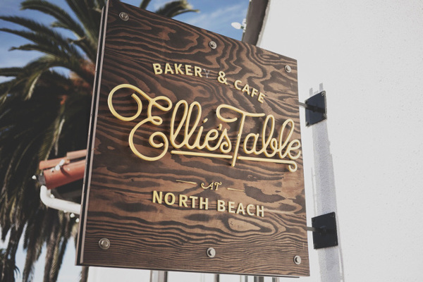 Ellie's Table cafe and bakery branding by Brian Rau