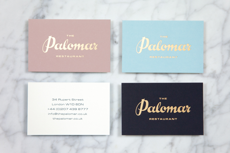 03-The-Palomar-Gold-Foil-Business-Cards-by-Here-on-BPO | Grits + Grids