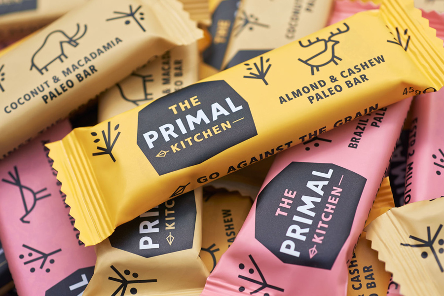 The primal kitchen snack branding and packaging by Midday