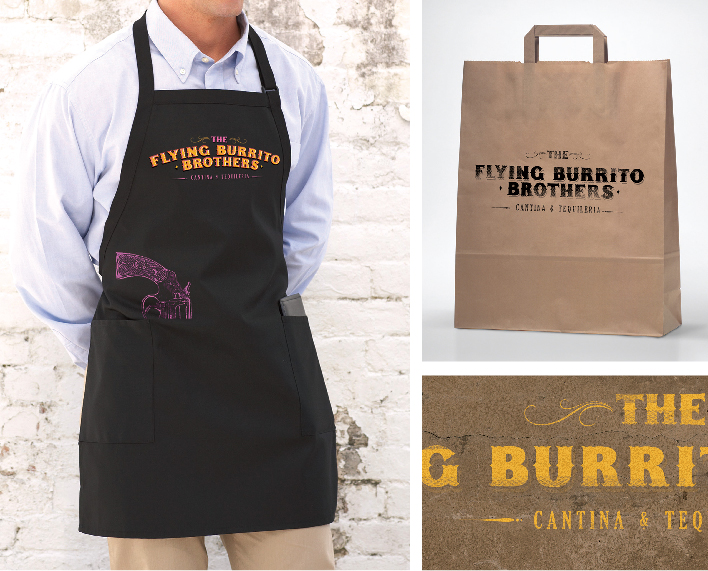 Flying Burrito brothers restaurant and bar branding by Chilli