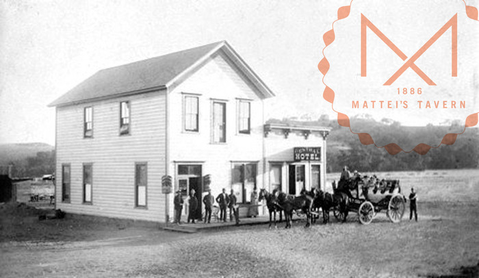 Mattei's Tavern branding by Boy Burns Barn