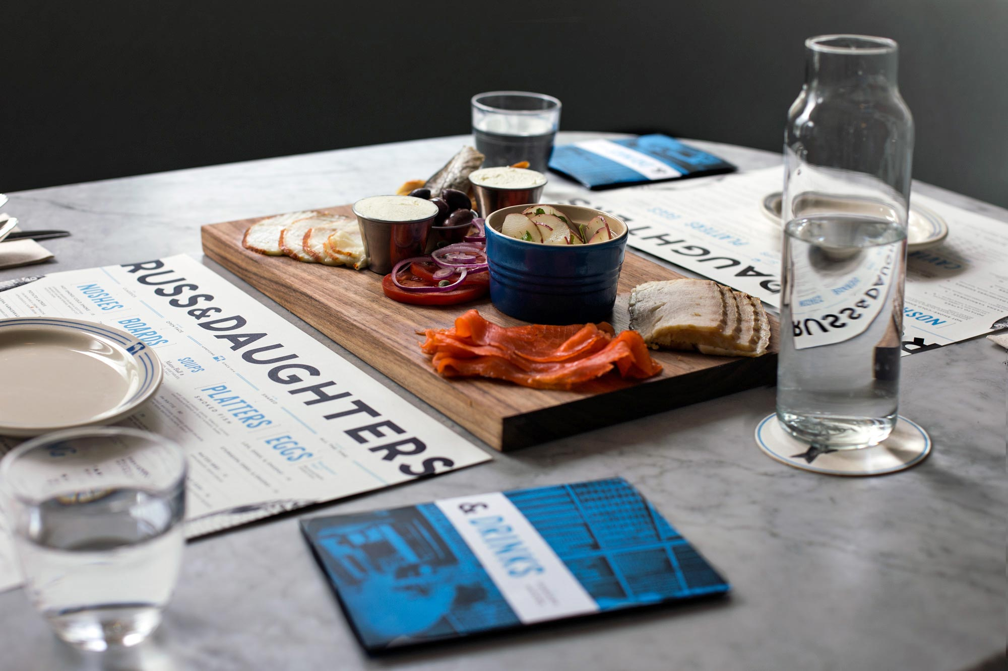 Russ & Daughters restaurant rebranding and design by Kelli Anderson