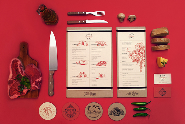 Tres Quince mexican restaurant design by Skinpop