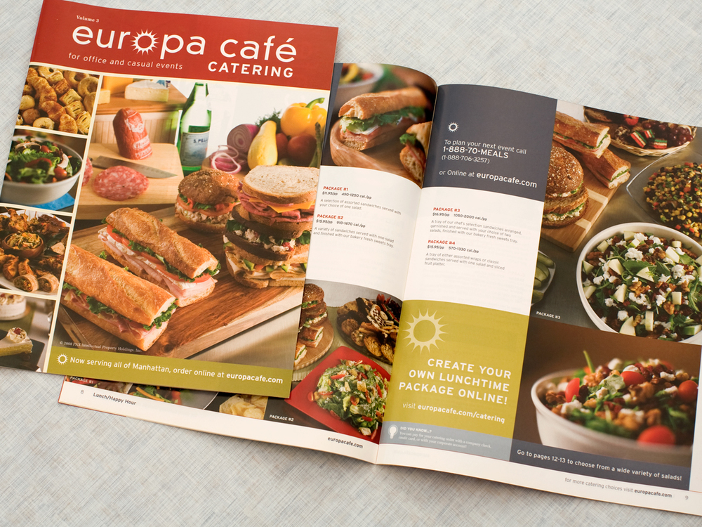Europa Cafe restaurant branding by ADL