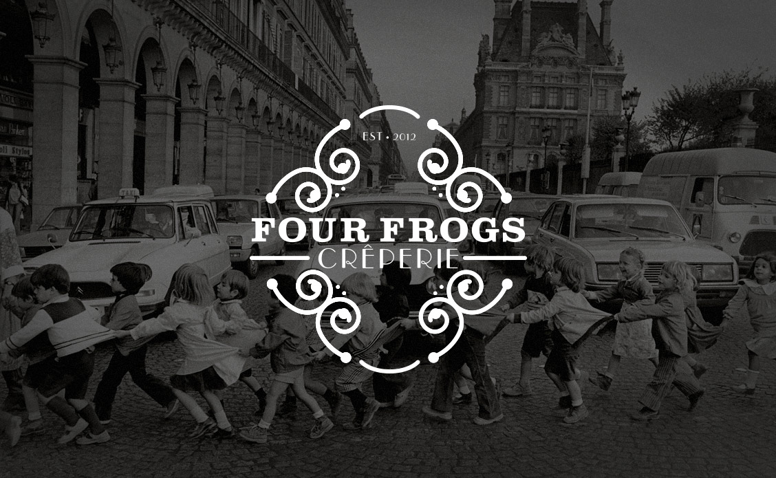 Four Frogs Creperie branding by National Grid