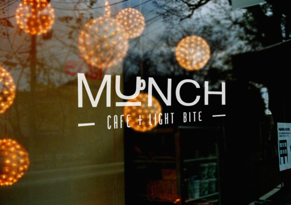 Munch cafe and restaurant branding by Hazel Chong