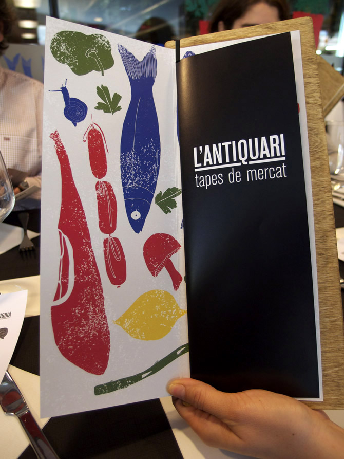 Lantiquari tapas restaurant branding by Rachel Sender
