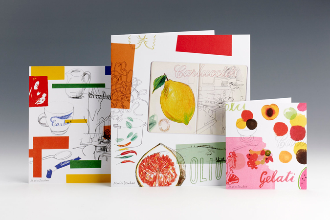 Carluccio's restaurant branding and packaging by Irving & Co