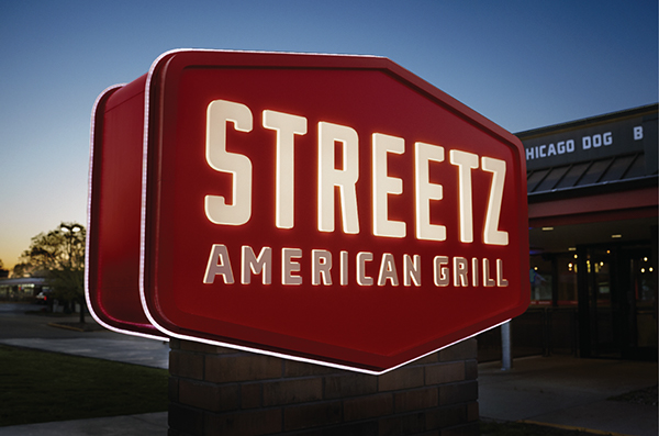 Streetz American Grill restaurant branding by Cue