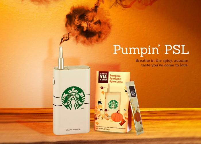 Starbucks PSL flavored vapor