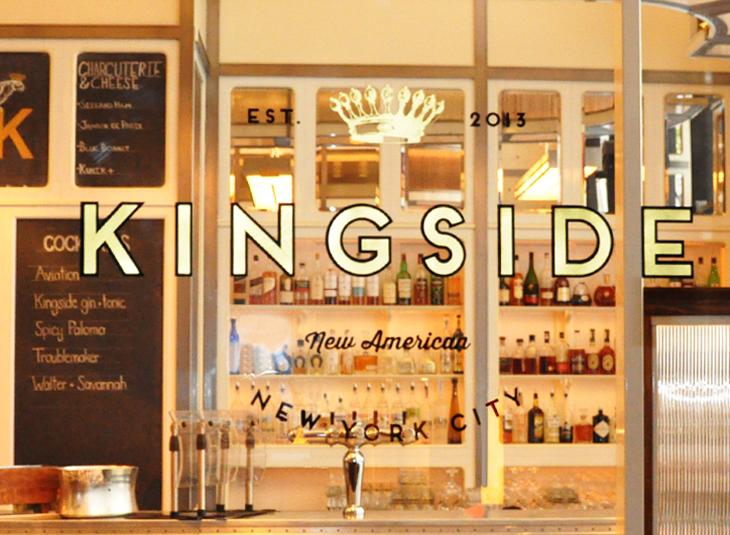 Kingside restaurant bar branding by LMNOP