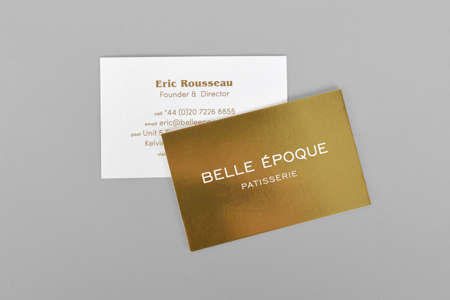 Belle Epoque patisserie branding by Mind Design