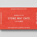 Stone way cafe branding and design by Shore