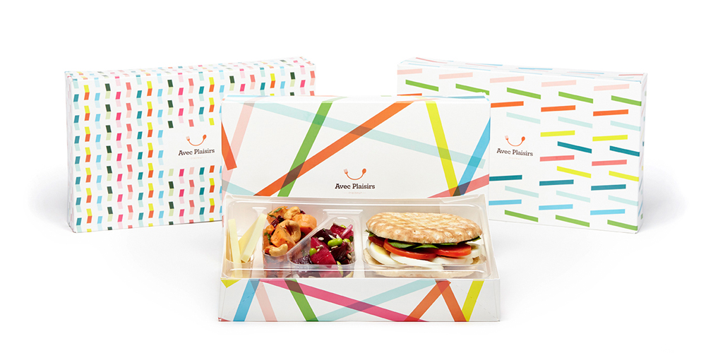 Avec Plaisirs catering company branding by Philippe Archontakis