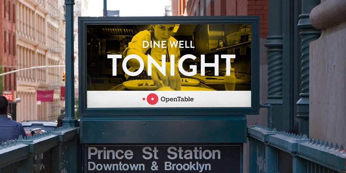 Opentable rebranding branding design by Tomorrow Partners