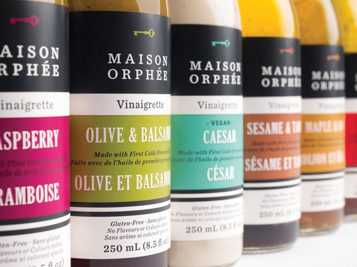 Maison Orphee salad dressing package design by LG2Boutique