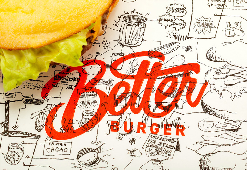 Better Burger restaurant branding by 485 Creative NZ