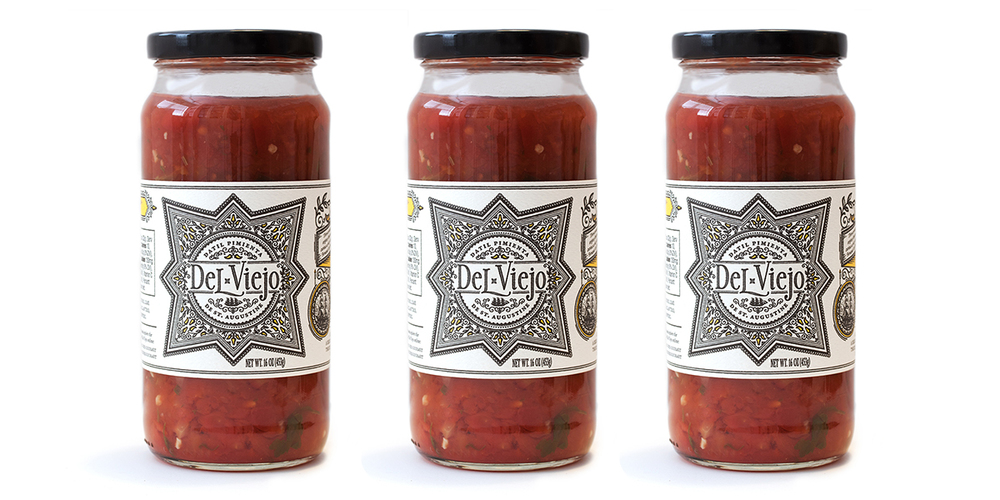 Del Viejo salsa packaging and branding by Miller Creative