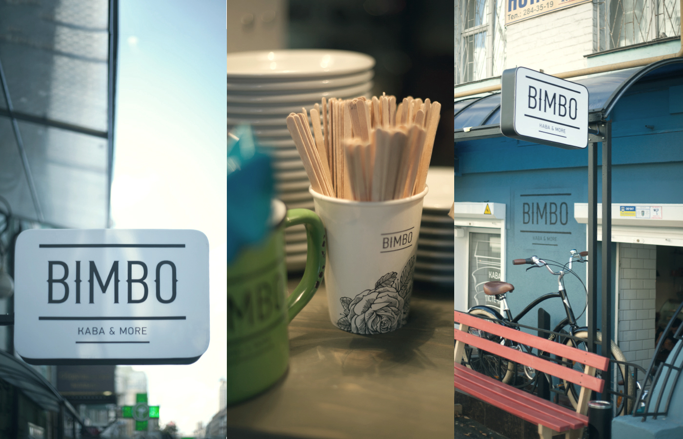 Bimbo cafe coffee bar branding by Andrii Pavlov in Ukraine