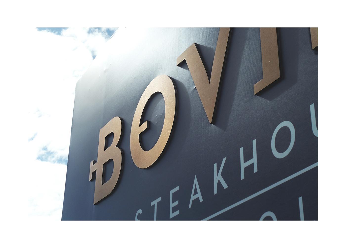 Bovino steakhouse restaurant branding by TripleSky in Portugal