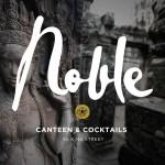 Noble restaurant branding and design by Olly in Australia