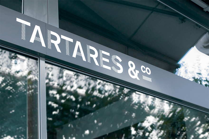 Tartares and Co restaurant and bar branding by Studio Gambetta in France