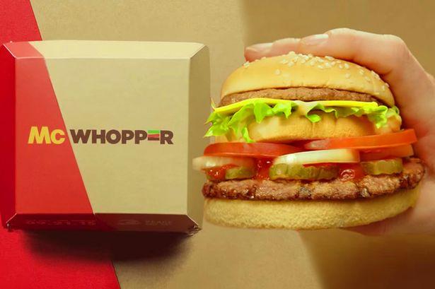 McWhopper burger king and mcdonalds advertising ploy