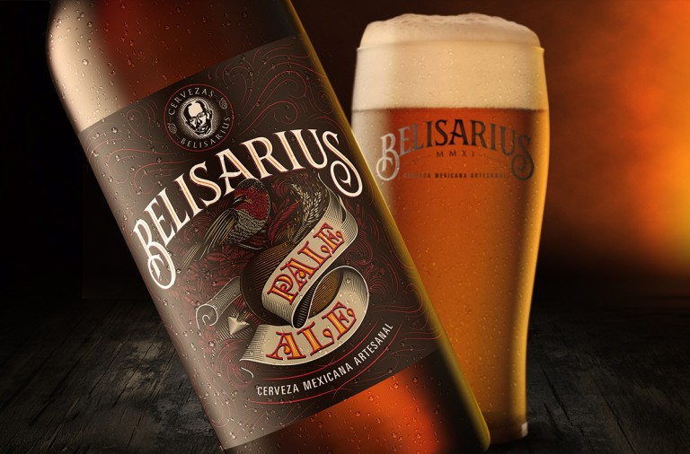 Belisarius craft beer branding and design by Gen Ramirez in Guadalajara Mexico
