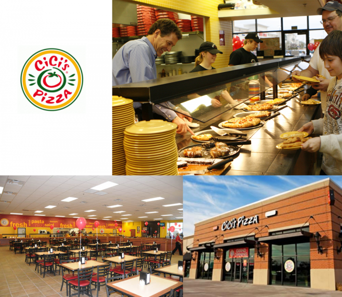 Cici's pizza rebrand - old logo and look