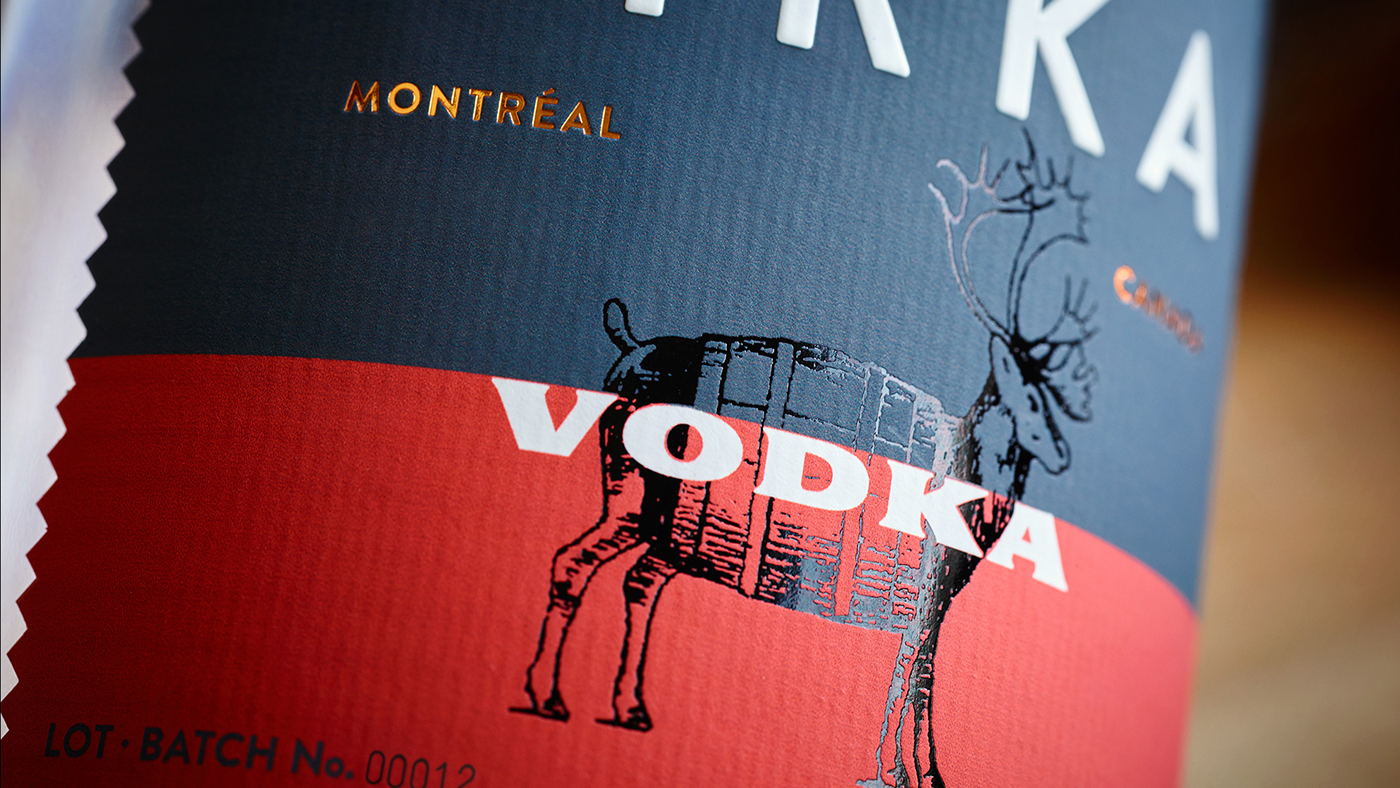Cirka Distilleries beverage branding and package design by Company Et Cie in Canada
